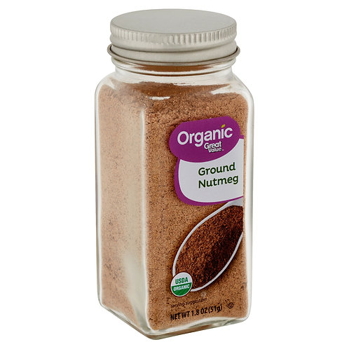 Great Value Organic Ground Nutmeg, 1.8 oz