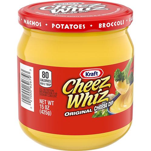 Kraft Cheez Whiz Original Cheese Dip, 15 oz Jar