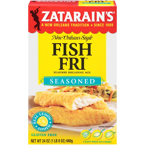 Zatarain's Seasoned Fish Fri, 24 oz