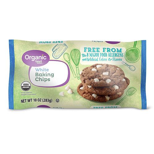 Great Value Organic White Baking Chips, 10 oz