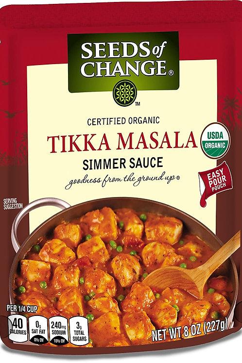 SEEDS OF CHANGE Organic Tikka Masala Simmer Sauce 8z