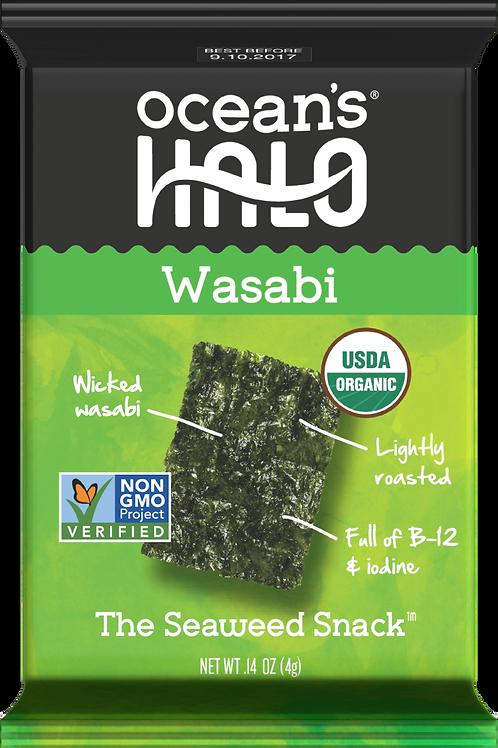 Ocean's Halo Organic Wasabi Seaweed Snack, .14 oz.