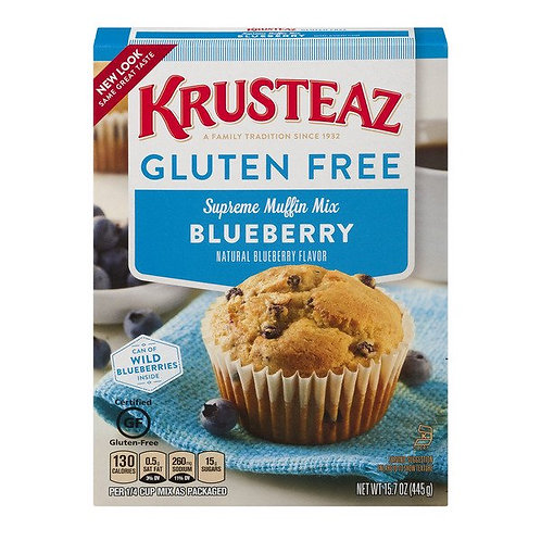 Krusteaz Gluten Free Blueberry Muffin Mix, 15.7oz Box