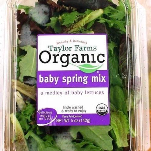 Organic baby spring mix 5z