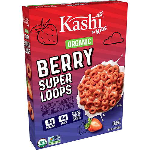 Kashi Organic Berry Super Loops Cereal 9.5 Oz