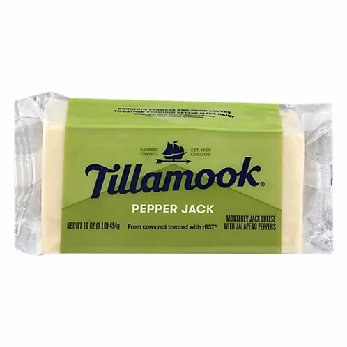 Tillamook pepper jack cheese 16z