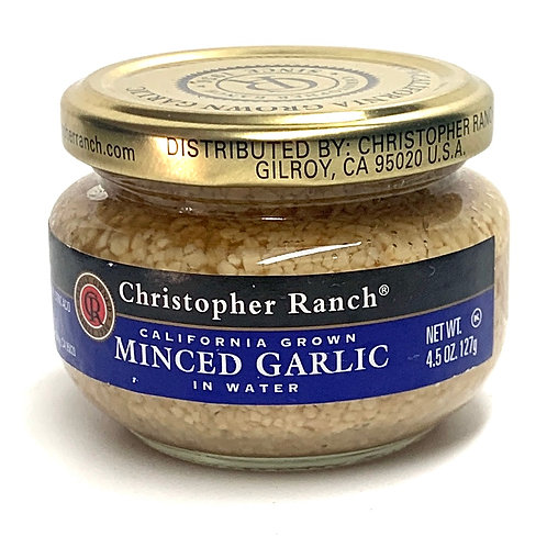 Christopher Ranch minced roasted garlic in water 4.5z (#83651)