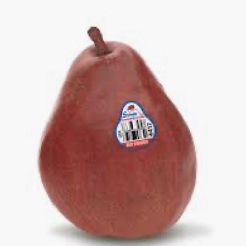 Organic red d'anjou pears 2pcs