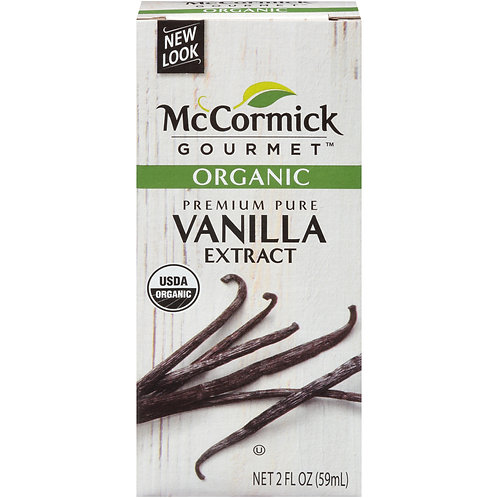 McCormick Gourmet Organic Pure Vanilla Extract, 2 fl oz