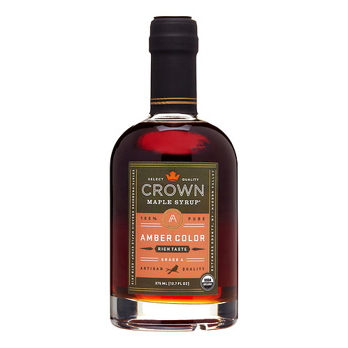 Crown Maple Amber Color Rich Taste Organic Maple Syrup 375ML