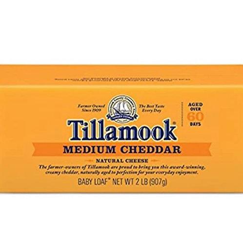 Tillamook medium cheddar cheese 2lbs