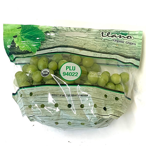 Organic green seedless grapes (1.5-2lbs)