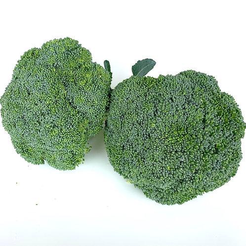 Organic broccoli crowns 1 lb