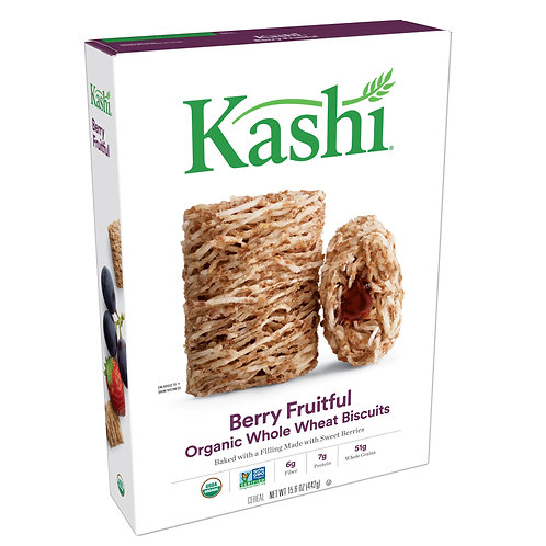 Kashi Organic Breakfast Cereal, Berry Fruitful, 15.6 Oz