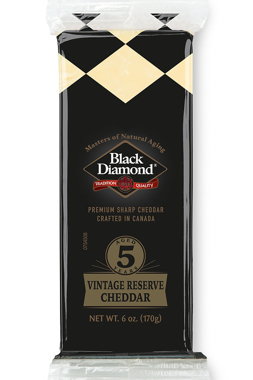 Black Diamond Vintage Reserve Sharp Cheddar Aged 5 Years, 6.0 OZ