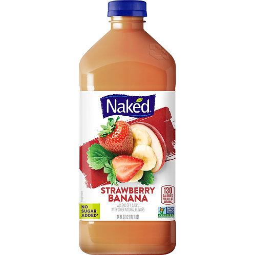 Naked Juice Fruit Smoothie, Strawberry Banana, 64 oz Bottle