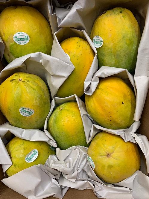 Hawaiian papayas full case 8-9 pieces