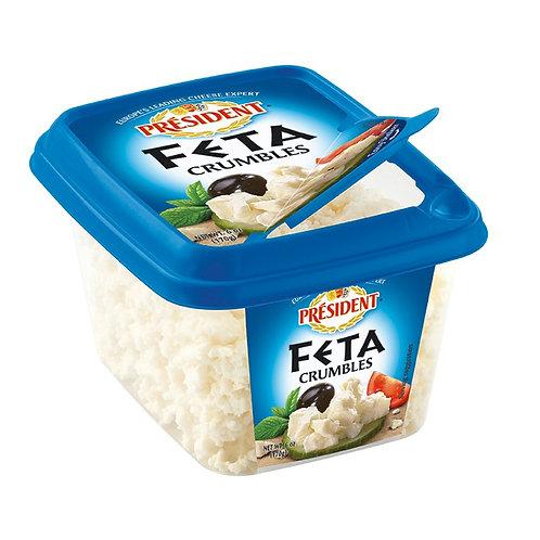President Crumbled Feta Cheese, 6 oz