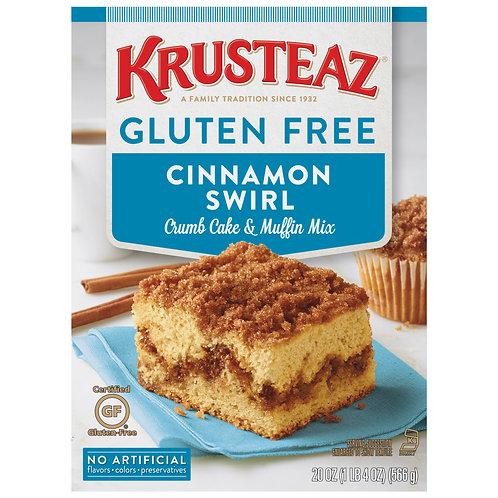 Krusteaz® Gluten Free Cinnamon Swirl Crumb Cake & Muffin Mix 20 oz. Box
