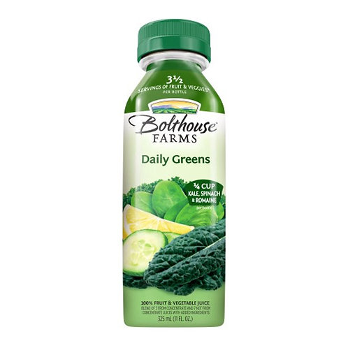 Bolthouse Farms Fruit & Vegetable Juice, Daily Greens, 11 oz