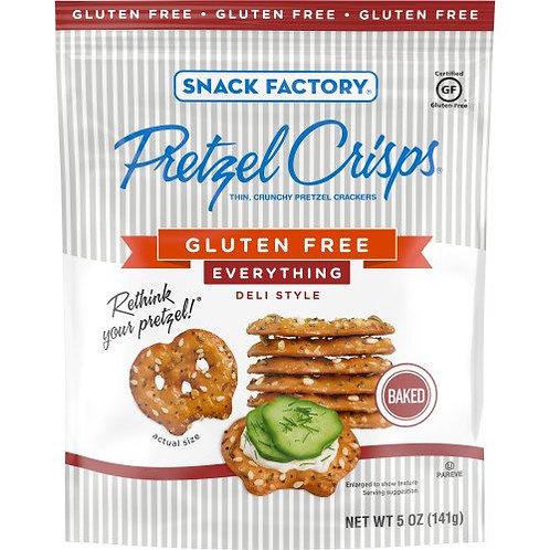 Snack Factory Pretzel Crisps Gluten Free, Everything Flavor, 5 Oz