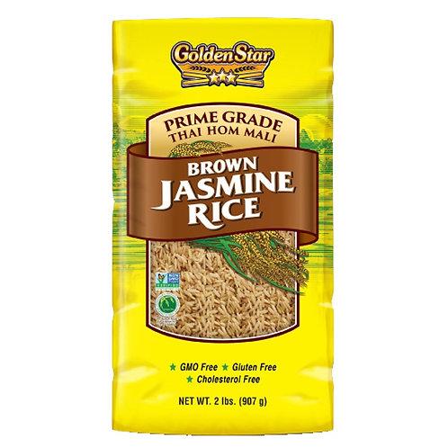 Golden Star Brown Jasmine Rice, 2 lbs