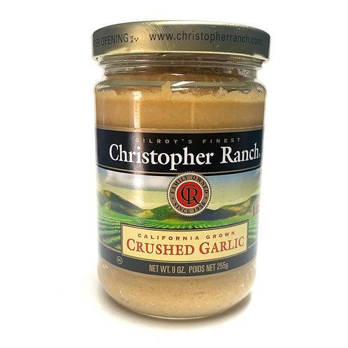 Christopher Ranch crushed garlic 9z. (#83310)