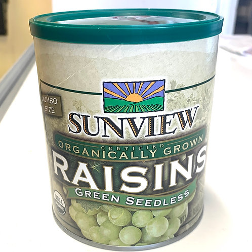 Organic green seedless raisins 15z (USA)