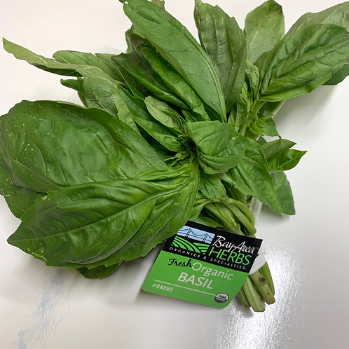 Organic Italian Basil 1 bunch (USA )