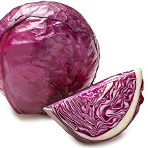 Organic Red cabbage 1 ea. 2-3lbs