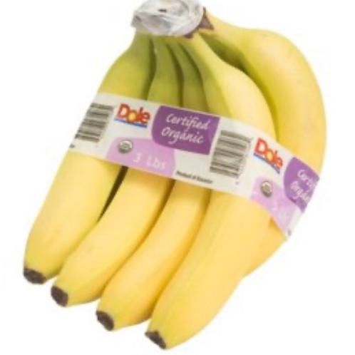 Organic banana, appx 2.5#