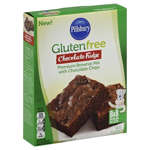 PILLSBURY GLUTEN FREE CHOCOLATE FUDGE BROWNIE MIX 15.5z