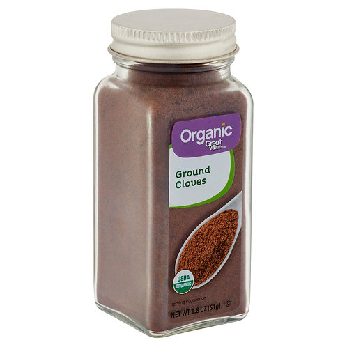 Great Value Organic Ground Cloves, 1.8 oz