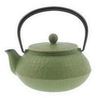 Iwachu Spring Grass Seven Jewels Cast Iron Tea Pot