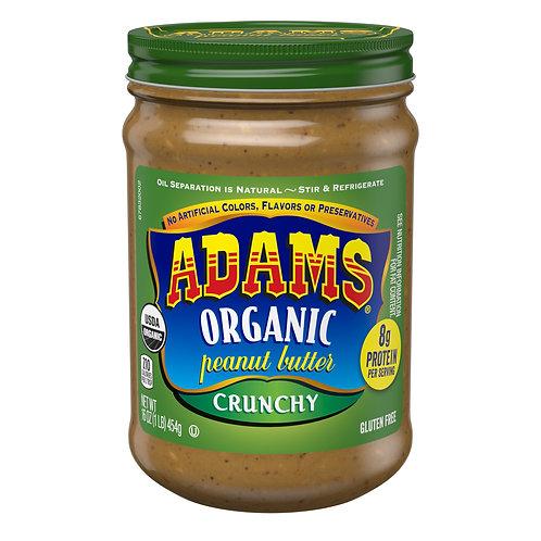 Adams Crunchy Organic Peanut Butter, 16-Ounce