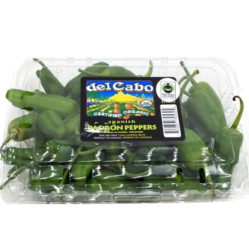 Organic Padron peppers 10z (Mx)