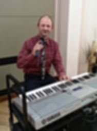 this is me again playing the keyboard in another care home