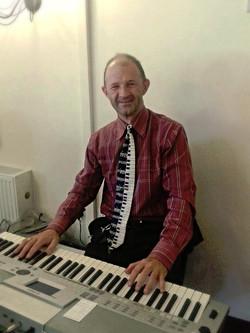 Me playing the keyboard