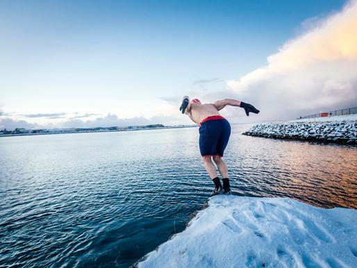 winter bathing no wetsuit?!