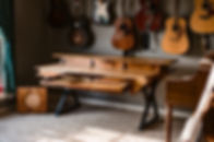 Hardwood Music Production Desk Audio Video Producer Office Decor Music Custom Furniture handmade Walnut