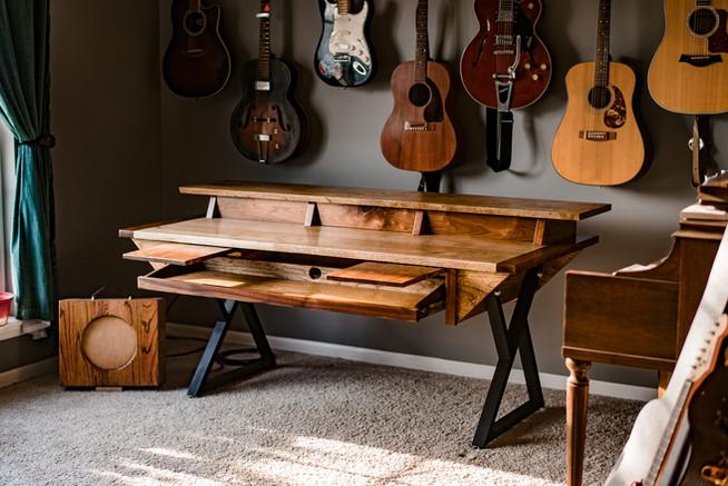 Hardwood Walnut Music Producer's Desk