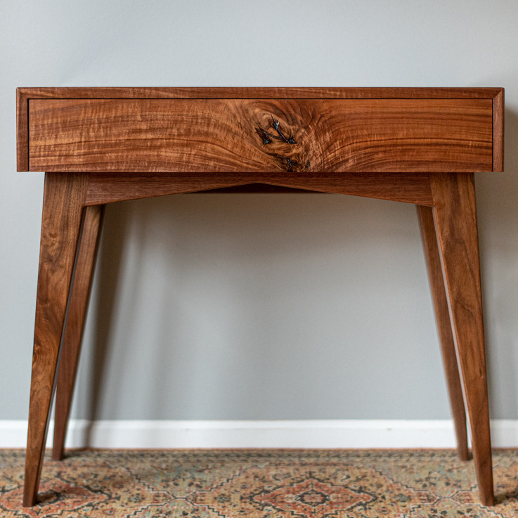 Mid-Century Modern Walnut Writing Desk