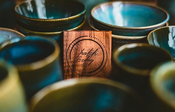 Personalized Designed Hardwood Coasters