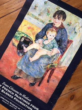 Vintage 1995 Renoir Art Poster