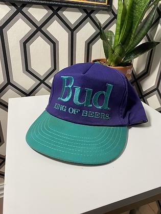 Vintage Made in USA Bud King of Beers Snapback