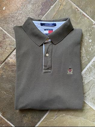 Vintage Tommy Hilfiger Olive Green Crest Polo Shirt