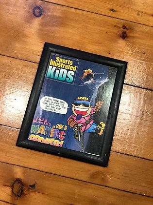Vintage Framed 1993 SI Kids Ski Cover