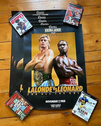 Vintage 1998 Sugar Ray Leonard vs. Donny Lalonde Poster