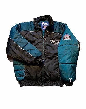 Vintage Pro Player Eagles Puffer Jacket
