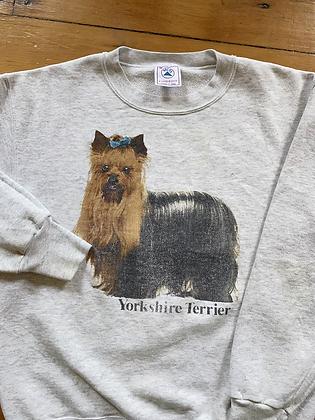 Vintage Yorkie Yorkshire Terrier Crewneck Sweatshirt